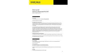 Compliance | Sartorius